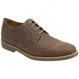 Mens Tucano Mustang Tobacco Leather Derby Brogue Shoes