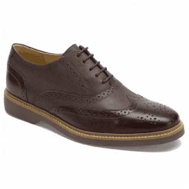 Mens Pilar Graphite/Burgundy Leather Oxford Brogue Shoes