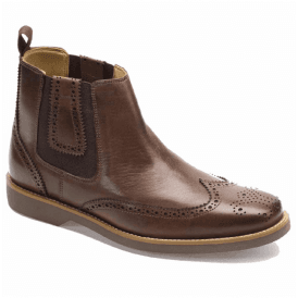 Mens Gustavo Coffee Touch Brogue Chelsea Boots