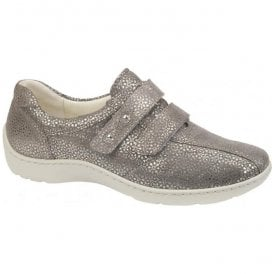 Womens Henni Tago Taupe Nubuck Velcro Shoes 496301 117 230