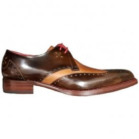 Mens Dexter Code Camel Polish/Rustick Gibson Shoes