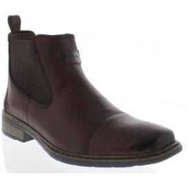Mens Brown Combination Ankle Boots 30863-25