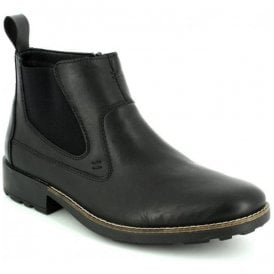 Ramon Black Leather Chelsea Boots 36062-00