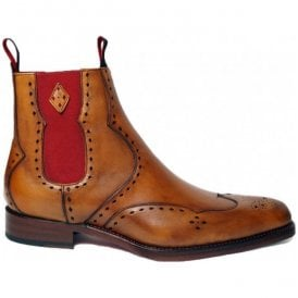 Mens Dexter Novikov Mahogany Leather Ankle Boots