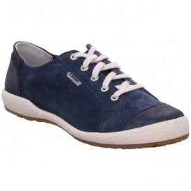 Womens Caspian 14 Blue Leather Trainers 75688 982 500