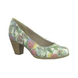 Womens Flower Combi Slip-On Court Shoes 8-22460-20 908