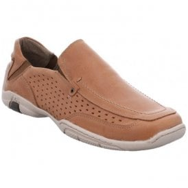 Mens Pietro 01 Camel Slip On Shoes 24201 950 240