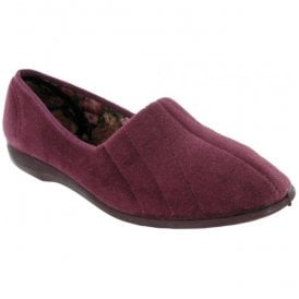 Womens Audrey Heather Slip On Slippers