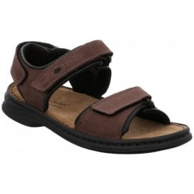 Mens Rafe Brasil/Black Leather Velcro Sandals 10104
