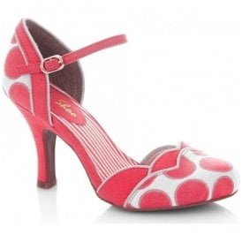 Womens Phoebe Coral Court Shoes 09176