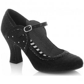 Womens Rosalind Black Mary Jane Court Shoes 09183