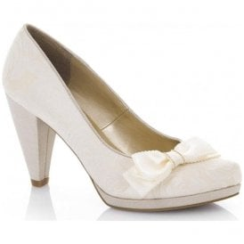 Womens Susanna Cream Slip-On Court Shoes 09156