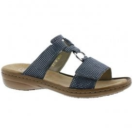 Dusty Blue Velcro Mules 608P9-12