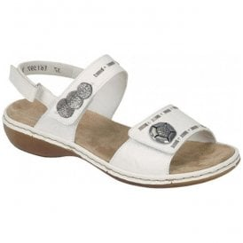 Spacer White Combi Velcro Strap Over Sandals 65972-82