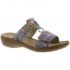 Womens Dusty Multicolour Velcro Mules 608P9-90