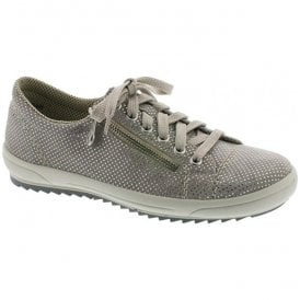 Womens Pisa Grey Nubuck Casual Trainer M6012-42