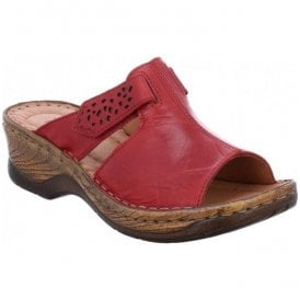 Womens Catalonia 32 Red Velcro Mules 56496 88 400
