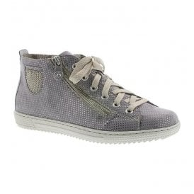 Womens Puntino Grey High-Top Trainers L9402-42