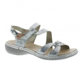 Mussurana White Combi Velcro Strap Over Sandals 65969-82