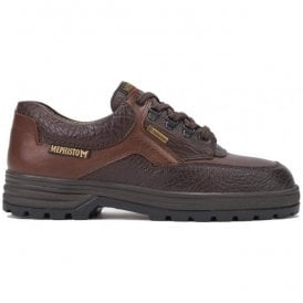 Mens Barracuda Gore Dark Brown Waterproof Lace-Up Shoes