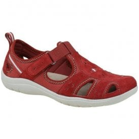 Womens Cleveland Cardinal Red Casual Velcro Open Shoes 28050
