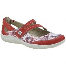 Womens Maryland Jazzy Red Strap Over Casual Shoes 28065