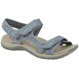 Womens Frisco Frost Grey Double Velcro Strap Sandals 28091