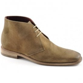 Mens Trapper Tan Oiled Suede Desert Boots