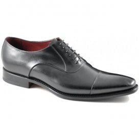 Mens Snyder Black Leather Oxford Lace-Up Formal Shoes