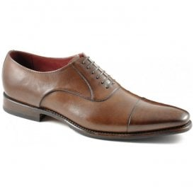 Mens Snyder Brown Leather Oxford Lace-Up Formal Shoes