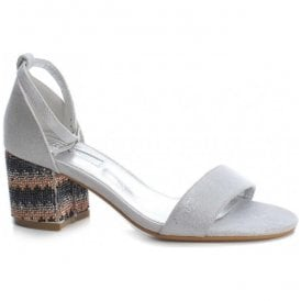 Womens 30702 Plata (Silver) Buckle-Up Closed Heel Sandals