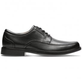 Mens Un Aldric Park Black Leather Shoes 26132576