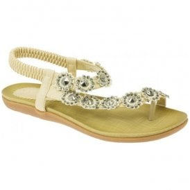 Womens Charlotte Beige Toe-loop Sandals JLH601 BG
