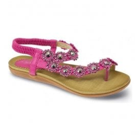Womens Charlotte Cerise Toe-loop Sandals JLH601 FU