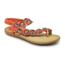 Womens Charlotte Orange Toe-loop Sandals JLH601 OR