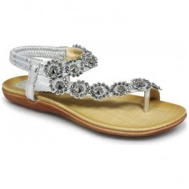 Womens Charlotte Silver Toe-loop Sandals JLH601 SL