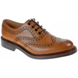 Mens Edward Tan Formal Brogue Lace-Up Shoes
