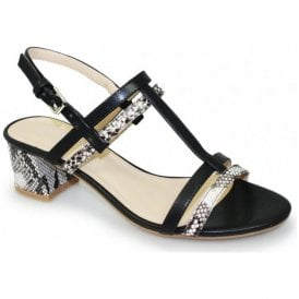 Womens Mirage Black Snake Sandals JLE076 BK