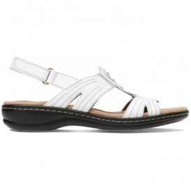 Womens Leisa Vine White Leather Mule Sandals 26134116