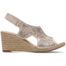 Womens Lafley Rosen Sand Leather Wedge Sandals 26133775