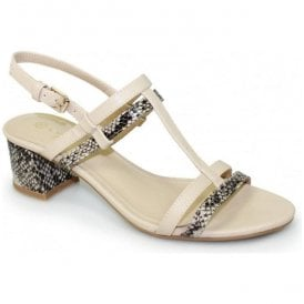 Womens Mirage Nude Snake Sandals JLE076 ND