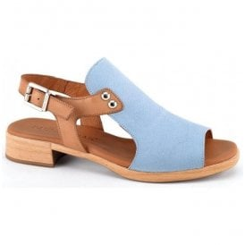 Womens Jeans Nubuck Buckle-Up Sandals 5-8407