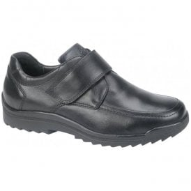 Mens Palmer Kai Black Velcro Shoes 613300 174 001