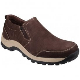 Mens Sheepcombe Brown Slip On Casual Shoes