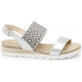 Womens Gipsy Silver Multi Leather Sandals 9-28604-20 925
