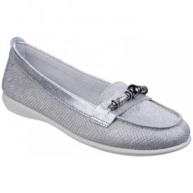 Womens Dream On Slip On Casual Loafers With Bead Trim
