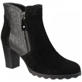 Womens Diply N Love Black Heeled Boots