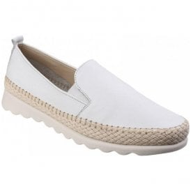 Womens Chappie Saratoga White Slip-On Loafers