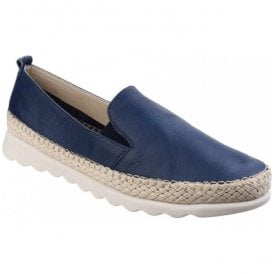 Womens Chappie Saratoga Navy Slip-On Loafers