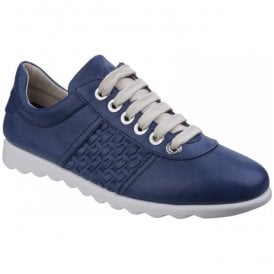 Womens Champy Diamante Navy Lace-Up Casual Shoes